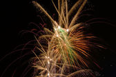Fireworks on black — Stock Photo