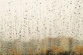 Rain drops on window — Stock Photo