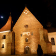 Stock Photo: Church at night in Poznań, Malta