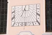 旧的太阳能时钟 — 图库照片