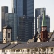 The skyline of Frankfurt, Germany - Stock Photo