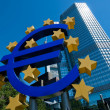 The European Central Bank in Frankfurt - Stock Photo