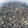 Stock Photo: Air view New york