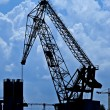 Cranes Silhouettes — Stock Photo