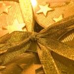 boîte de cadeau de Noël. couleur or — Photo