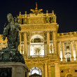 The place of heroes, Hofburg castle, by — Stock Photo