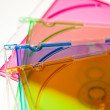 A group of CD/DVD Cases, colourful — ストック写真