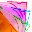 A group of CD/DVD Cases, colourful — Stock Photo