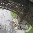 The basis of the Eiffel Tower in Paris, France — ストック写真