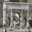 Rome: The ruins of the ancient roman forum — Stock Photo