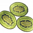 Kiwi fruit isolated against a white background — Stockfoto