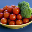 Tomatoes and Broccolli — Stock Photo