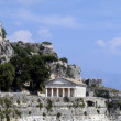 Round greek temple in Corfu, Greee — Stok Fotoğraf #2656956