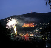 Fireworks in Heidelberg, Germany — Stock Photo