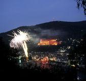 Fireworks in Heidelberg, Germany — Stock Photo