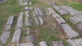 Rzymskie ruiny ulicy — Zdjęcie stockowe