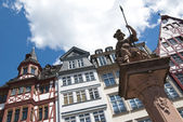 TRADITIONAL HOUSES IN THE ROEMER, FRANKFURT — 图库照片