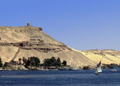 De nijl in aswan, egypte — Stockfoto