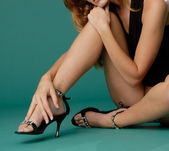 Schöne sexy dame in lingery — Stockfoto
