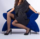 Sexy lady in black Dress — Stock Photo