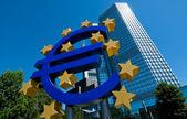 Evropská centrální banka ve frankfurtu — Stock fotografie
