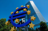 O banco central europeu em frankfurt — Foto Stock