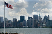 The skyline of Manhattan — Stock Photo