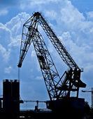 Cranes Silhouettes — Stock Photo