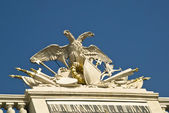 Schoenbrunn Austria, Close up of double head eagle — Foto Stock