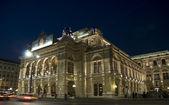 Die oper in wien, österreich. beleuchten — Stockfoto