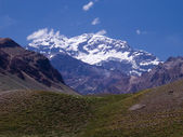 The aconcagua mountain — Stock Photo