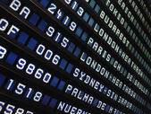 Panel airpor con vuelos — Foto de Stock
