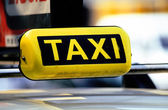 Taxi Cab Car Roof Sign Close Up — Stock Photo