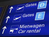 Lotnisko we frankfurcie, bramy — Zdjęcie stockowe