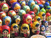 Matrushkas souvernir w ukrainie — Zdjęcie stockowe