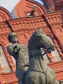 Horseman Sculpture in Russia — Stock Photo
