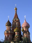 Moscow, the St. Basil Church — Stock Photo