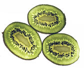 Kiwi fruit isolated against a white background — Stock Photo