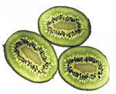 Kiwi fruit isolated against a white background — Stock Photo