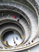 Rome, spiral stairs in the Vatican Museum — Stock fotografie