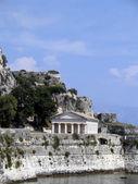 Round greek temple in Corfu, Greee — Stock Photo