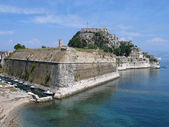 Old venetian fortress in Kerkira, — Stock Photo