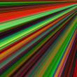 Colorful lines from corner — Stock Photo