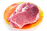 The big piece of fresh raw marble meat — Stock Photo