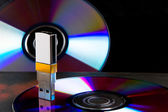 Portable flash usb drive memory — Stock Photo
