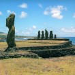 Religion sculpture on Easter island - Stock Photo