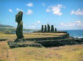 Religion sculpture on Easter island — Stock Photo
