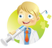 Funny doctor — Stock Vector