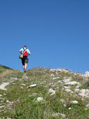 Walking in the mountains — Stock Photo