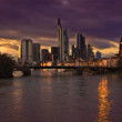Frankfurt at night - Lizenzfreies Foto